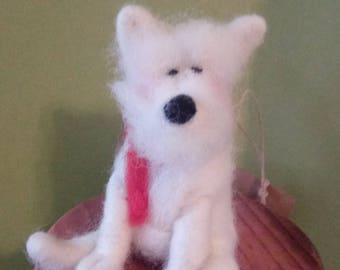 Tunch the Terrier Felted Wool Ornament - NEW for 2018
