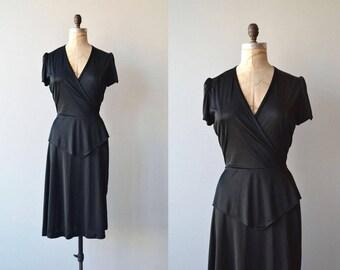 Air Noir dress | vintage 1970s dress | black 70s dress