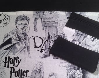 """Harry Potter zippered Macbook 13""""  padded sleeve  / made in Maine"""