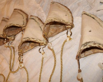 Set of 5 custom champagne color Bridesmaids gun holster purses rustic country western cowboy wedding custom made to order