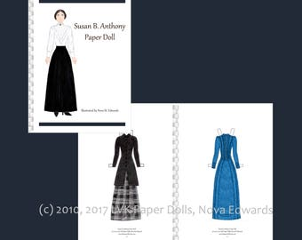 Susan B. Anthony Paper Doll