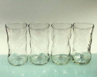 YAVA Glass - Upcycled PEPSI Bottle Glasses (Set of 4)