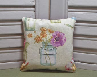 "Lavender, fabric sachet, garden flowers, lavender pillow, vase, scented drawer bag, 4"" by 4"" size, 100% dried lavender for lovely scent"