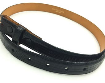 Barry Kieselstein Cord Black Lizard Belt Size 3