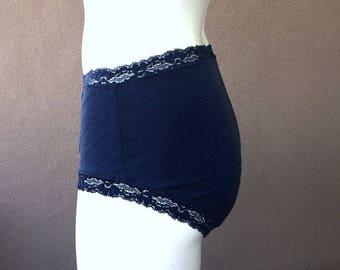 Merino wool underwear, full coverage merino panties, handmade lingerie