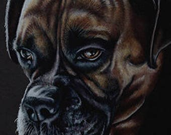 Boxer Art Note Card
