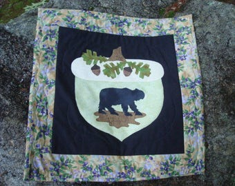 Bear in the Blueberries Quilted Wallhanging