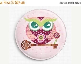 SAVE 30% Owl Needle Minder, Licensed Art, Buho Spring Owl, Sandra Vargas, Cross Stitch Keeper,Fridge Magnet