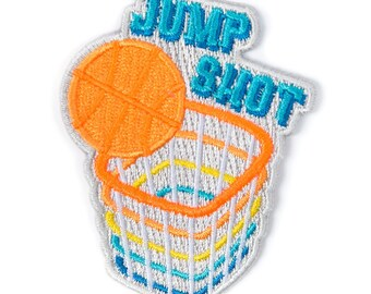Jump Shot Iron On Patch