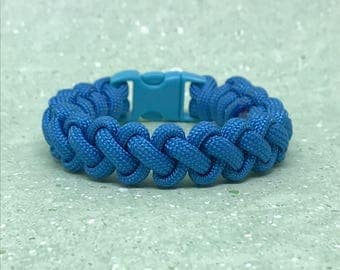 Clearance Paracord Bracelet- Size 6 - Narrow Turquoise