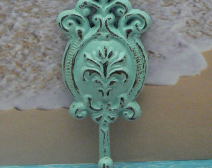 Floral Cast Iron Wall Hook Shabby Chic Cottage Chic Beach Home Decor