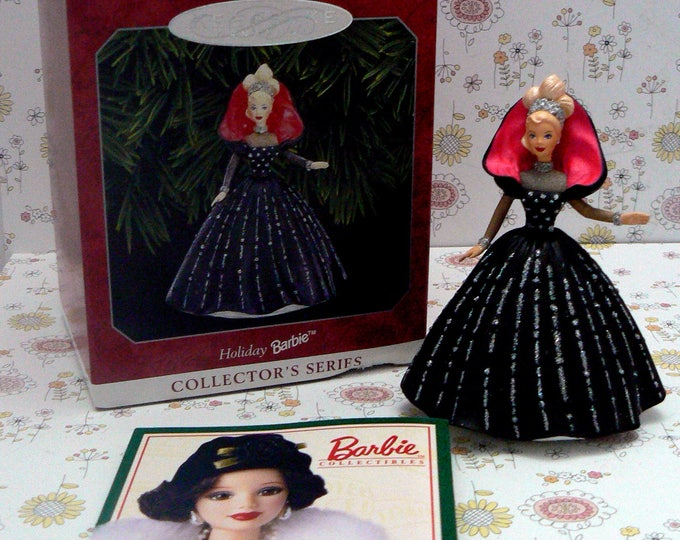 Hallmark Holiday Barbie Christmas Ornament 6th Series Patricia Andrews 1998