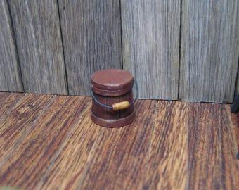Dollhouse Miniature Firkin Bucket RED