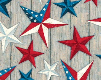 Susan Winget Texas Stars Patriotic Cotton Fabric by the half yard and by the yard