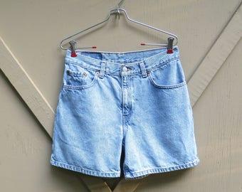 90s vintage Levi's Faded Stone Wash High Waist Jean Shorts / Levi's Denim Jean Shorts / Boho Indie Hipster