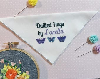 Butterflies Personalized Quilt Labels, FOR THE CORNER of your quilt