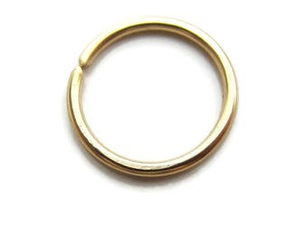Single ( 1 ) Solid Gold Hoop Cartilage Hoop Free Shipping 18Gauge 8mm