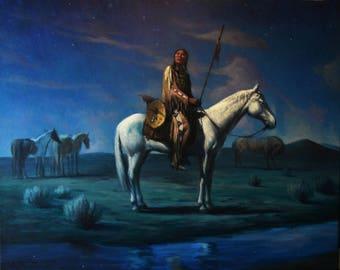 Stargazer  Original  oil painting   36x24 inches