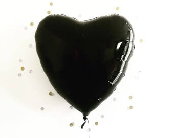 BLACK HEART jumbo balloon / 40 inch / death note party supplies / nye party balloon/ Valentine's Day / black balloon / New Year's Eve