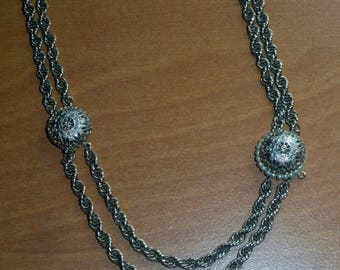SALE Estate Denbe Necklace Rope Chain with Pearls