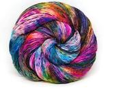"Glam Rock Sparkle Sock Yarn - ""Supernova"" -  Handpainted Superwash Merino - 438 Yards"