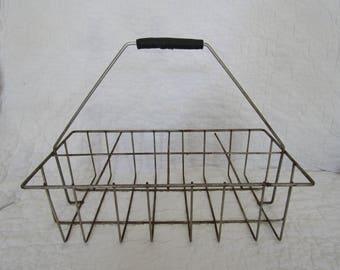 Vintage Milk Crate Wire Carrier
