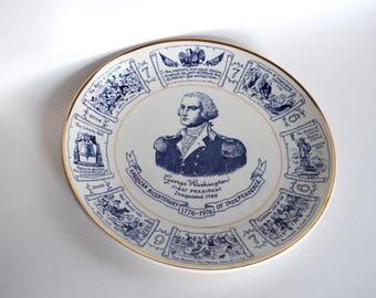 Vintage George Washington Lord Nelson Pottery Plate