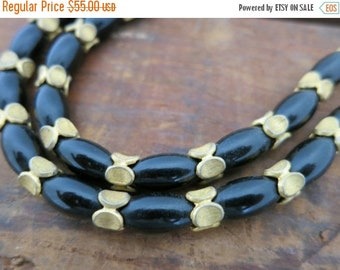 40% OFF Black and Gold Beaded Double Necklace