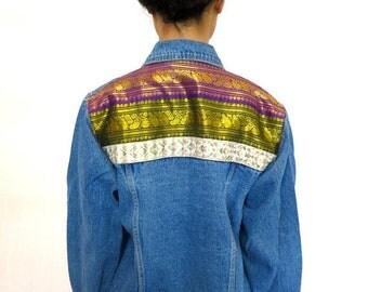 40% OFF The Tunic Trim Denim Jacket