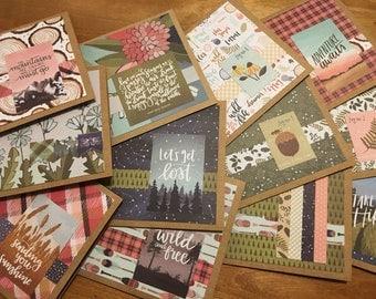 Woodsy notecard set