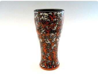 Etched Porcelain Beer Glass/Tumbler