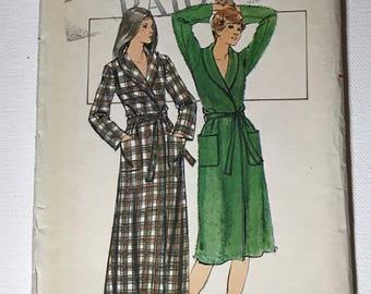 Vintage 1974 McCalls Robe Pattern 4351 Size 12 1970's Uncut