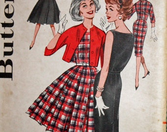 Vintage 1960s Sewing Pattern, Butterick 9472, Misses' Jumper and Jacket, Two Skirts, Misses' Size 14, Bust 34