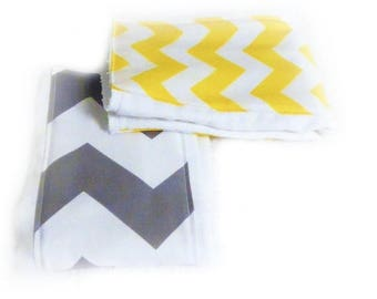SALE Chevron Burp Cloths - set of 2 - Your Choice or Boy Diaper Burp Cloth // Cotton Burp Cloths // Baby Shower Gift // Gift for Baby