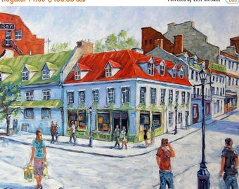 On Sale Montreal Urban Streets Original  Painting by Prankearts