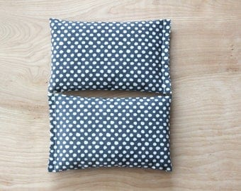 Organic Lavender Bags, Grey White Dot, Scented Sachets for Drawers