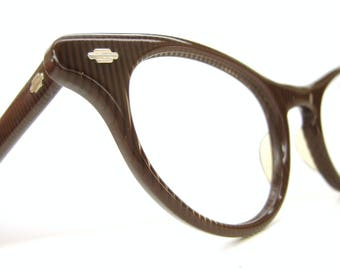 Vintage Retro Illusion Cat Eye Glasses Eyeglasses Frame 1950s Art Craft