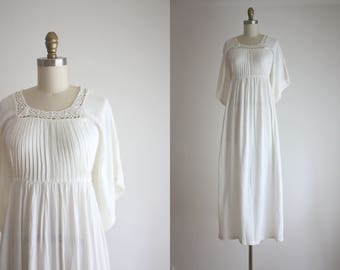 1970s cotton field dress