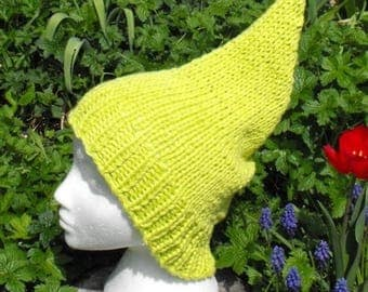 40% OFF SALE Instant Digital File pdf download Superfast Garden Gnome Slouch pdf knitting pattern