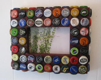 4x6 Photo Frame with Bottle Caps