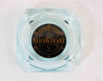Vintage Ashtray from: Showboat Casino-Hotel, Las Vegas. Circa 1950's - 1960's.