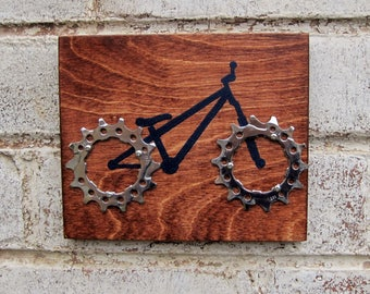 "6""x5"" Recycled Bicycle Dirt Jumper Plaque"