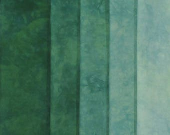 Hand Dyed Fabric Shades - Pine