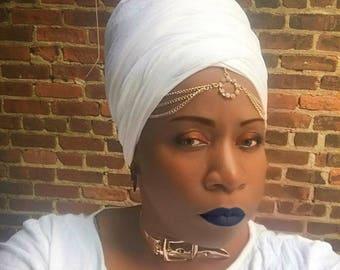 Queen - Cotton Headwrap- Women Hair Covering-Cotton Turban-Boho Headwrap