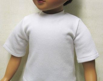 """White T-shirt for 23"""" MyTwinn Doll"""