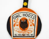 Notions Pouch - Halloween Owl