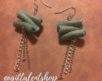 Coiled Leather Earrings | SHIPPING INCLUDED