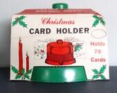 Vintage Plastic Card Holder - Quite Unique