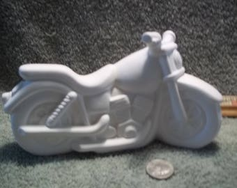 Motorcycle in Ceramic Bisque Ready For You To Paint  Motorcycles
