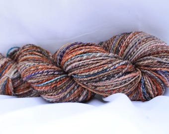 Hand spun super wash merino 3 ply worsted weight 228 yards 4.1 oz/116 grams #21